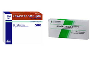 Сравниваем препараты Кларитромицин и Амоксициллин