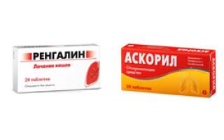 Сравниваем препараты Ренгалин и Аскорил