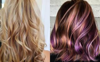 Сравниваем мелирование и колорирование волос