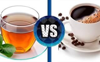 Сравниваем чай и кофе